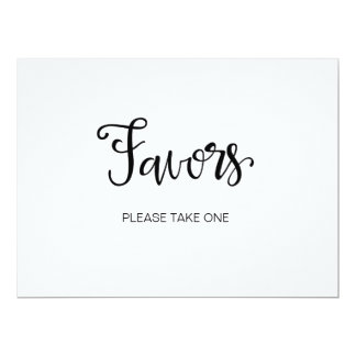 "Calligraphy | ""Favor please take one"" sign Card"