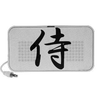Calligraphy for the Japanese Word Samurai in Kanji Travelling Speaker