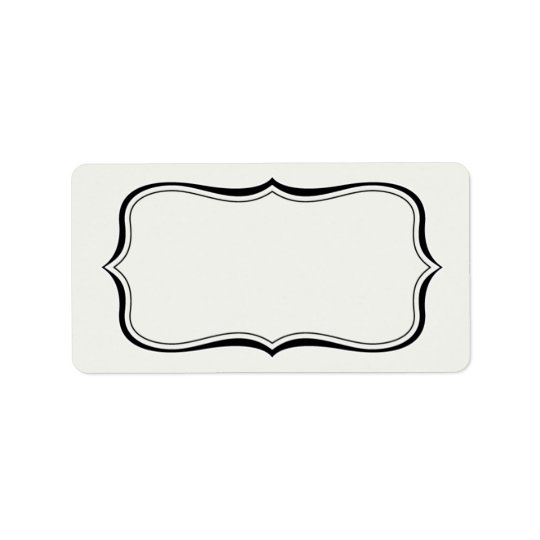 Calligraphy Frame Border Off-White Label Template | Zazzle