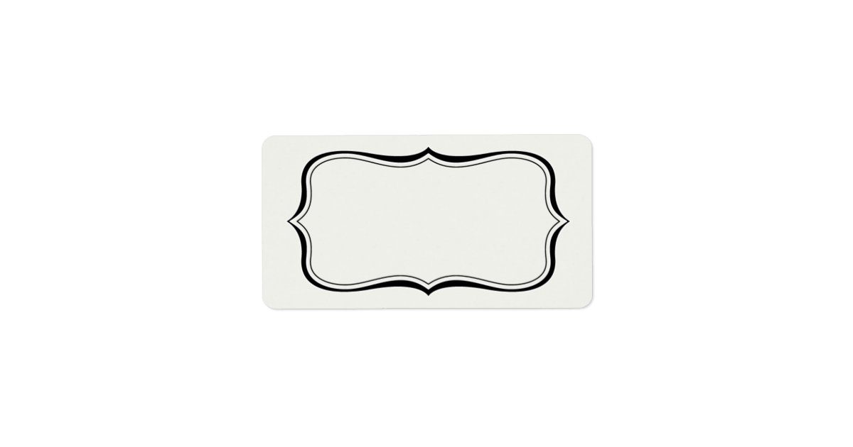 Calligraphy Frame Border Off White Label Template Zazzle