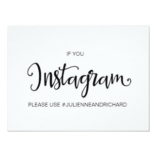 "Calligraphy | "" If You Instagram"" wedding sign Card"