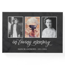 Calligraphy In Loving Memory Photo Collage Guest Book