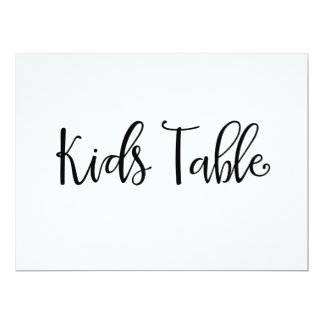"""Calligraphy   """"Kids Table"""" Wedding Sign Card"""