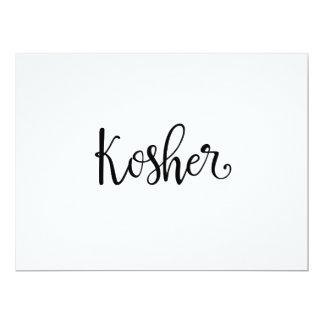"Calligraphy   ""Kosher"" Dietary Needs Sign Card"