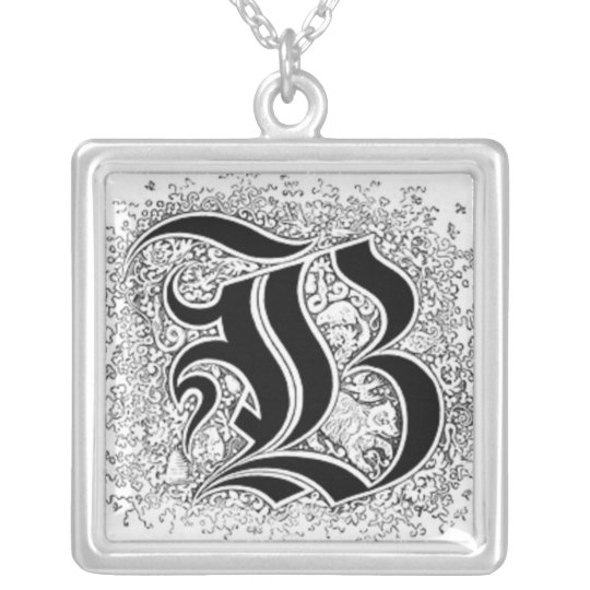 Calligraphy Letter B Necklace