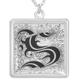 Calligraphy Letter S Necklace
