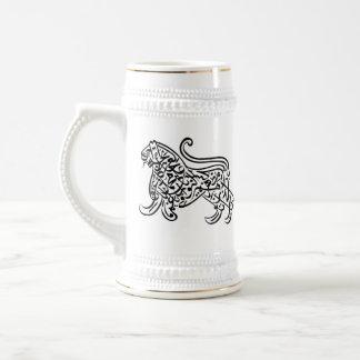 Calligraphy Lion (black) Beer Stein
