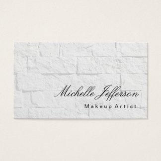 Calligraphy Makeup Artist Wall Brick Business Card