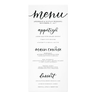 Calligraphy Menu Card