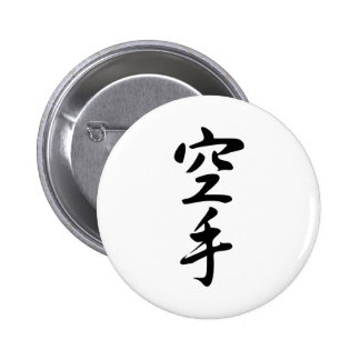 Calligraphy of the Japanese Word Karate Pin