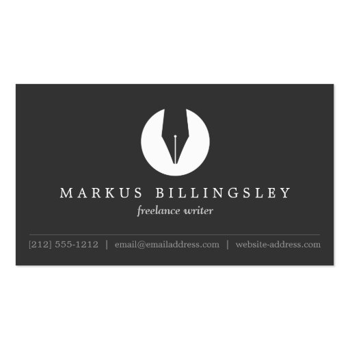 Calligraphy pen nib logo for authors or writers business
