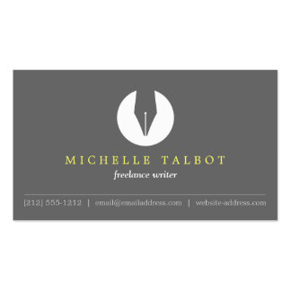 CALLIGRAPHY PEN NIB LOGO 5 for Authors or Writers Business Cards
