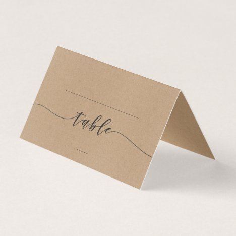 Calligraphy Rustic Wedding Place Cards