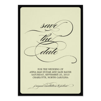{calligraphy} save the date card