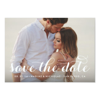 Calligraphy Save the Date Overlay Card