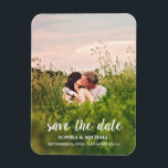 """Calligraphy Save the Date Wedding Photo Magnet<br><div class=""""desc"""">Calligraphy Save the Date Wedding Photo Magnet</div>"""