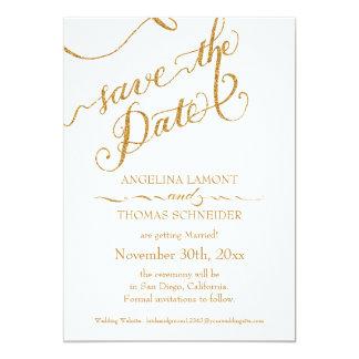 Calligraphy Script Forever in Love Gold Glitter Card