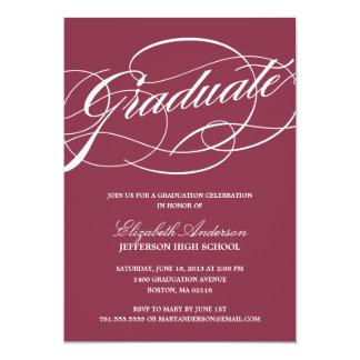 Calligraphy Script Graduation Invitation