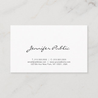 Calligraphy Script Modern Simple Professional Cute Business Card