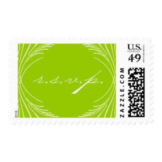 Calligraphy Script RSVP postage stamp