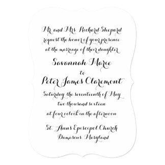 Calligraphy Script Wedding Invitation