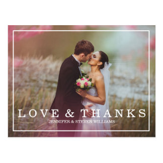 CALLIGRAPHY SCRIPT WEDDING THANK YOU POSTCARDS