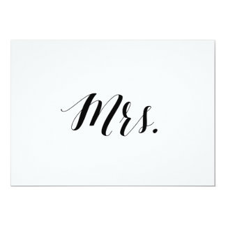"""Calligraphy Style """"Mrs."""" Wedding Chair Sign Invitation"""
