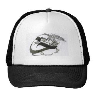 calligraphy trucker hat