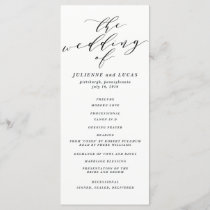 Calligraphy Wedding Ceremony Progam | Black Program