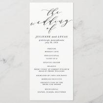 Calligraphy Wedding Ceremony Progam | Black Program