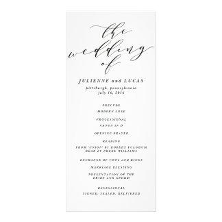 Calligraphy Wedding Ceremony Progam | Black Rack Card