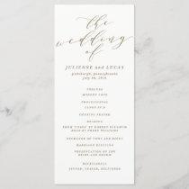 Calligraphy Wedding Ceremony Progam | Gold Program