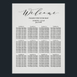 "Calligraphy  Wedding Seating Chart | Black<br><div class=""desc"">Modern Marble Wedding Seating Chart</div>"
