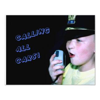 Calling All Cars! (Little Officer 6) Card