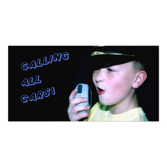 Calling All Cars! (Little Officer 6) Card