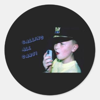 Calling All Cars! (Little Officer 6) Sticker