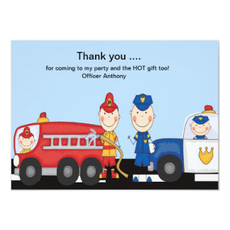 Calling All Heroes Thank You Card