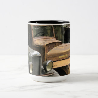 Calling All Mechanics Photography Two-Tone Coffee Mug