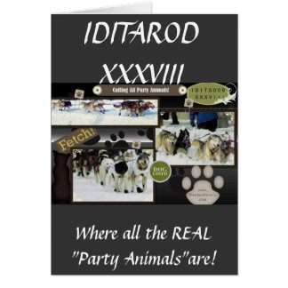 Calling all party animals! greeting card
