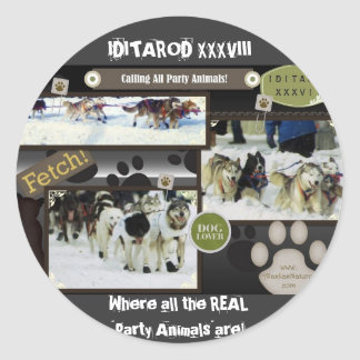 Calling all party animals! classic round sticker