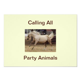 Calling All Party Animals Invitations