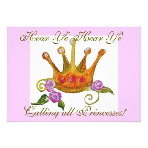 Calling all Princesses Invite