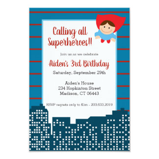 Calling All Superheroes! Birthday Party Invitation