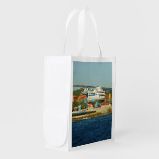 Calling at Curacao Two Sided Reusable Grocery Bag