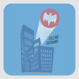 Calling Batman Bat Symbol Graphic Square Sticker