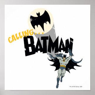 Calling Batman Graphic Poster