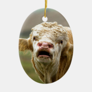 Calling Bull Ceramic Ornament