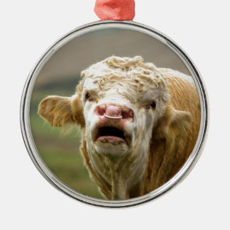 Calling Bull Metal Ornament