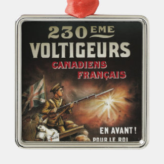 Calling Canadian and French to Service WWI Ornament