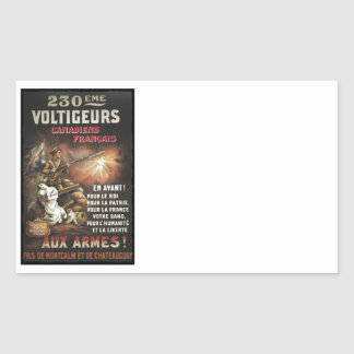 Calling Canadian and French to Service WWI Rectangular Sticker